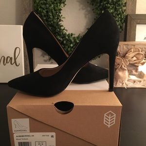 Call it Spring Black Suede Pumps